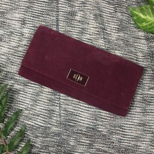 Banana Republic Purple Leather Clutch Wallet